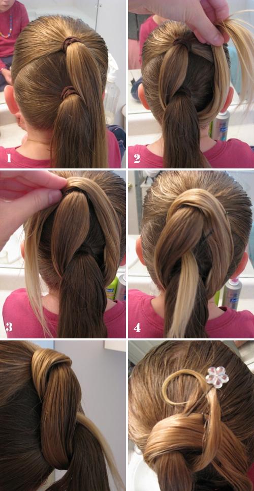 Причёски на средние волосы девочкам в домашних условиях фото пошагово