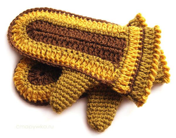 Часть 2. Серия сообщений.  Часть 1. Вязанные носки крючком.