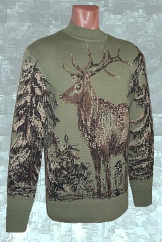 Автор.  Кофты и свитера ручной работы.  Свитер с оленями на заказ.