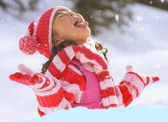 открытка лови снежки