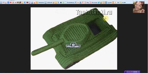 вязания - тапки Танки