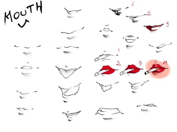 Как рисовать губы как в аниме