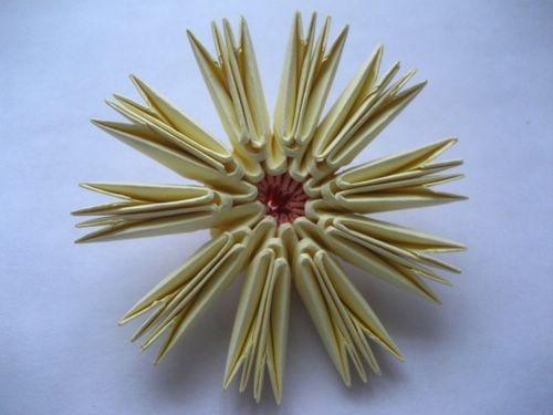 Модульное оригами - Схема сборки цветка.