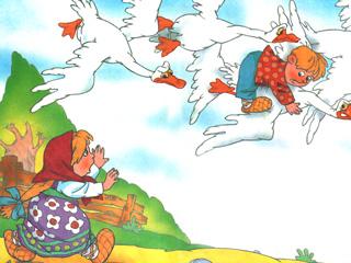гуси-лебеди сказка с картинками