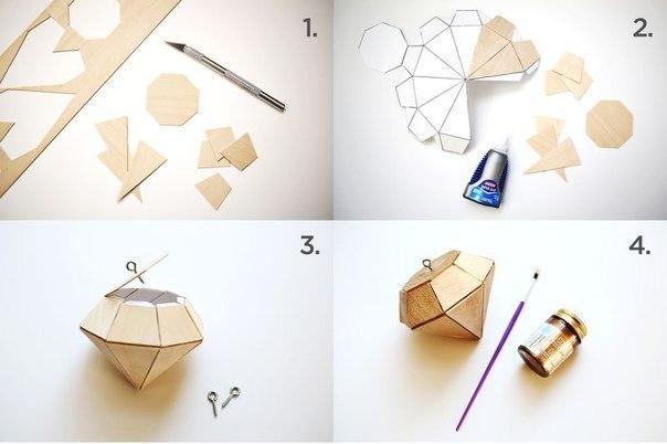 Как сделать алмаз из картона своими руками