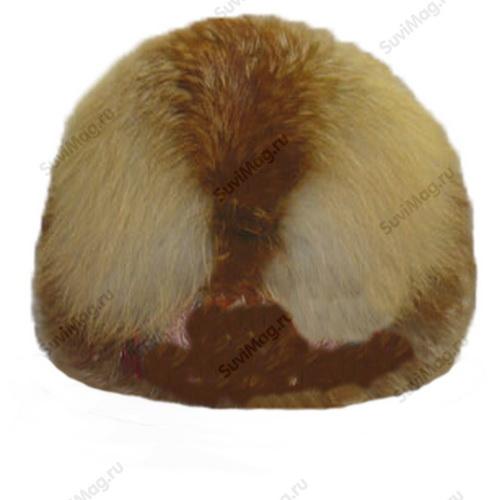 Шапка-ушанка из меха лисы.