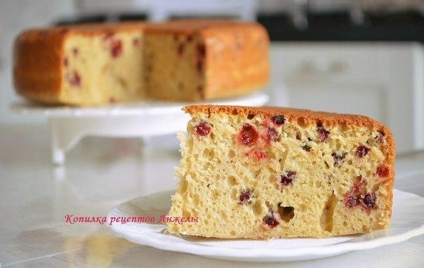 Рецепт пирога с ягодами на кефире