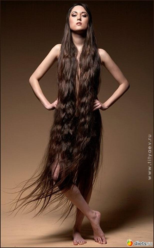 длинные секс волосы с