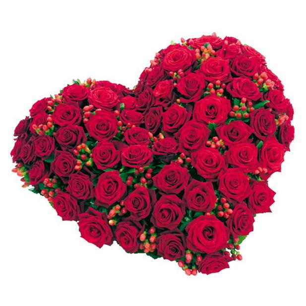 Красивые букеты в форме сердца juste un